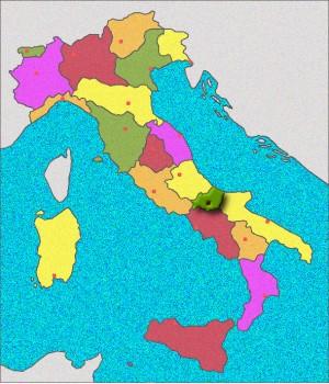 Carte du Molise