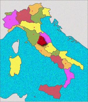 Carte d'Ombrie