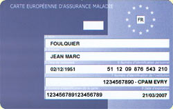 carte europeenne d'Assurance maladie E111