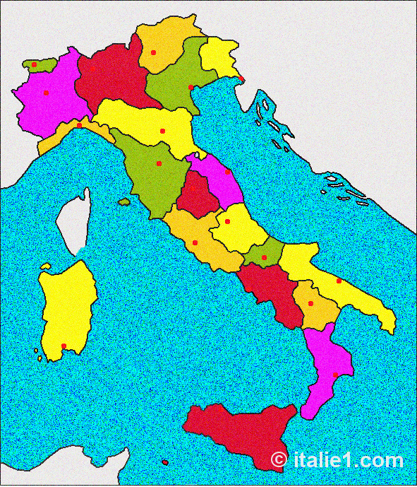 20 régions d'Italie