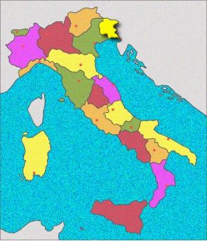 Carte du Frioul-Vénétie-Julienne