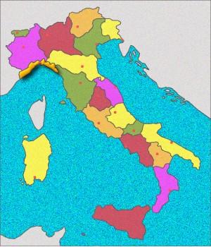 Carte de la Ligurie