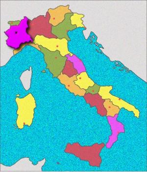 Carte du Piemont
