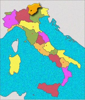 Carte du Trentin-Haut-Adige