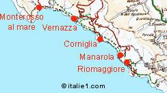 Carte des Cinque Terre