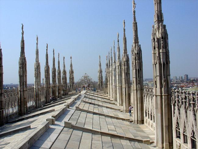 toiture du duomo de Milan