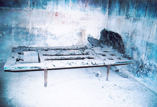 mobilier carbonisé d'Herculanum