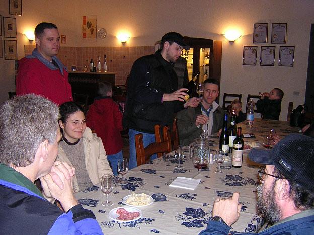 Dégustation de vins des collines euganéennes