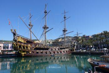 Galion du vieux port de Gênes