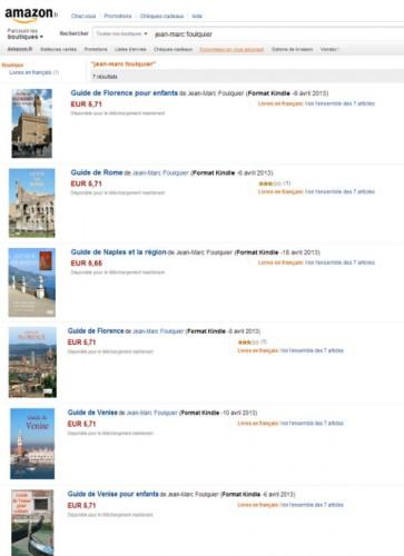 Guides italie sur Amazon kindle
