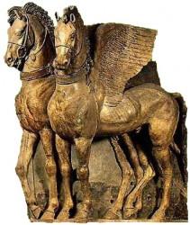 Les chevaux de Tarquinia, art étrusque