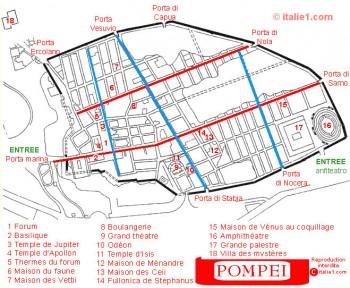 Plan de Pompéi