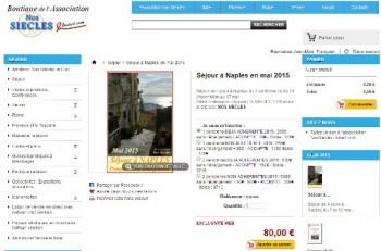 Réseervation en ligne voyage organisé à Naples