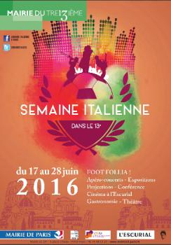 Semaine italienne à Paris 2016