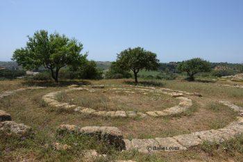 temple des divinités chthoniennes à Agrigente vallée des temples