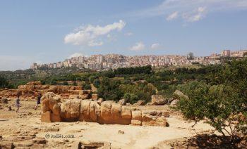 temple de Zeus à Agrigente vallée des temples