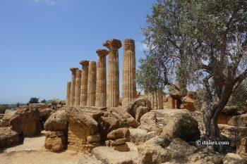 temple d'Héraclès d'agrigente vallée des temples