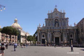 Place du duomo de Catane Duomo santa agatha