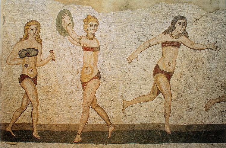 Fresques de la Villa romaine du Casale