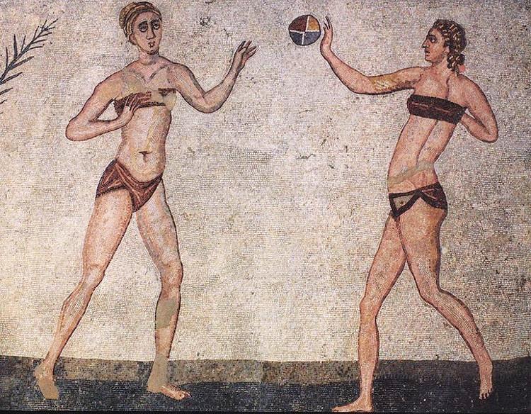 Fresques de la Villa romaine del Casale
