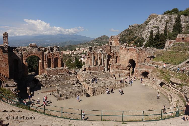 Théâtre de Taormina théâtre greco-romain de Taormine